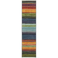 Rainbow Multi 2 ft. x 8 ft. Rug Runner