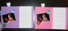Inside of Ms. Alexis' 1st birthday party invite..