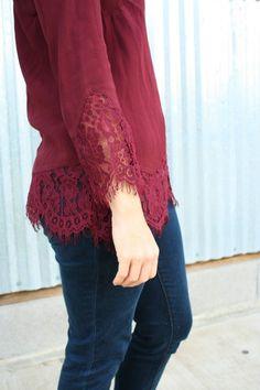 Cabot Lace Detail Blouse by Daniel Rainn - Stitch Fix December 2015