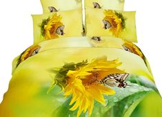 Nah of course not! but they'll change the look of your room. If you describe yourself as a non-traditional decorator, these sunflower bedding sets work.. #yellowduvet #sunflowerbedding #funkthishouse