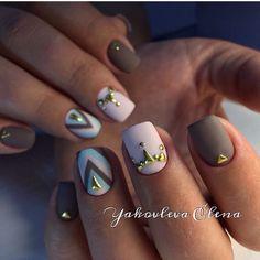 Beautiful autumn nails, Beautiful nail colors, Beautiful nails 2017, Fall nail…