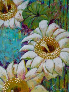 Catalina O. Rankin ~ Bloom ~Acrylic on canvas Make Your Own Story, Cactus, Desert Art, Southwest Art, Cacti And Succulents, Confetti, Photos, Bloom, Draw