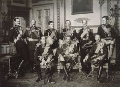 Nine kings gather to mourn the death of King Edward VII (1910). This may very well be the most kings ever photographed at once. Represented are Norway, Bulgaria, Portugal, the German Empire, Greece, Belgium, Spain, Great Britain, and Denmark.