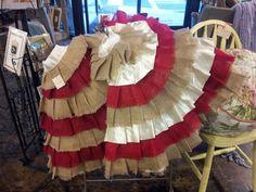 Burlap and ribbon tree skirts