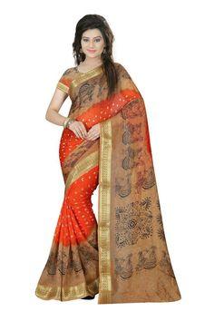 941e147d1 Indian Ethnic Bollywood Beautiful Party COTTON Designer Saree Sari Rangoli  SUN