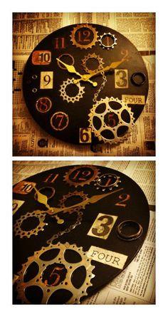 Repurposed Bike Parts into Industrial Clock