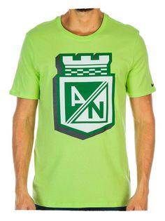 Camiseta Nike M/C Algodón Verde Fosforescente Atlético Nacional 2016
