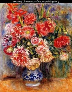 Bouquet - Pierre Auguste Renoir - www.most-famous-paintings.org