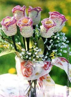 Ideas para el hogar: Varios tipos de flores en crochet