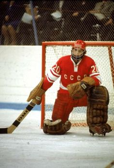 Vladislav Tretiak #20 Army Hockey, Rangers Hockey, Hockey Goalie, Hockey Games, Ice Hockey, Baseball, Nhl, Hockey Room, Russian Red
