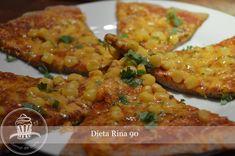 Pizza cu branza si porumbPentru g faina ml plic drojdieun paf lingura ulei vegetal(eu am pus de macadamia)Pentru gr branza (eu am folosit cheddar)porumbsos… Rina Diet, Cheddar, Quinoa, Risotto, Recipies, Healthy Recipes, Healthy Food, Low Carb, Pizza