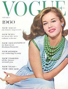 Vogue, January 1960 - Jane Fonda - Beads
