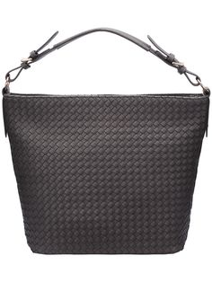 Grey Zipper Weave Shoulder Bag.   -SheIn