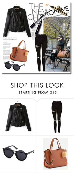 """""""Romwe 35"""" by zerina913 ❤ liked on Polyvore featuring Topshop and romwe"""