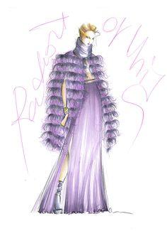 Fur fashion illustration - Mariana Cino  #fur #fashionillustration #radiantorchid #mongolia #volpe #silk #wool #winter