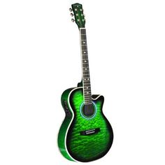 Green acoustic guitar- how cool is this!?