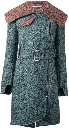 Structured Tweed Overcoat - CARVEN Tweed Overcoat, Crisp White Shirt, Carven, Outerwear Women, Winter Wear, Beautiful Outfits, Autumn Fashion, My Style, Opera Coat