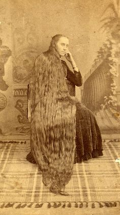 """victorian hair :vintage photo - makes me wish I had a """"YUK"""" board. That's just gross."""