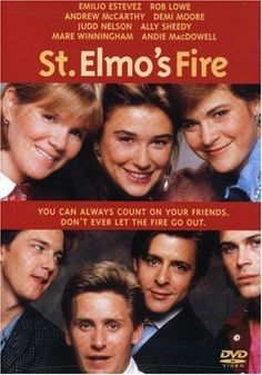 St. Elmo's Fire -- probably most rewarding for a teenaged audience?  Sure, the characters are unsympathetic (even unlikable), and Rob Lowe's character needed an actor with more charisma, and they're ALL drama queens, but there's some decent dialogue, and I was touched by the stories of unrequited love.