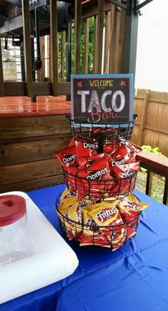 House Party Essen Ideen Taco Bar 28 Ideen - Cierra's sweet 16 - Baby Shower Foods House Party, Party Time, Ideas Party, 16th Birthday, 2nd Birthday Parties, Birthday Ideas, Fiestas Party, Snacks, Party Stuff