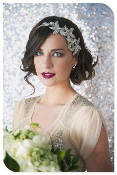 Stunning 1920s inspired bridal look                                                                                                                                                                                 More
