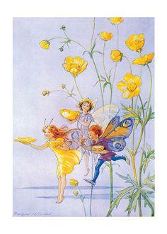 Fairies Bearing Flower Cups (Children & Fairies Greeting Cards)