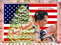 Patriotic Christmas Card  I'll Be Home for Christmas by dswygert, $15.00