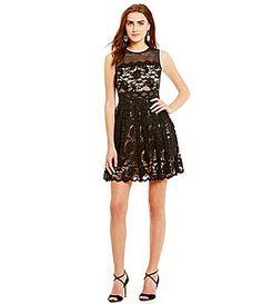 Belle Badgley Mischka Maddison Sleeveless Lace Dress #Dillards