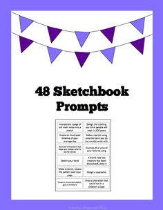 This product contains 48 unique sketchbook prompts for use in student sketchbooks. These sketchbook ideas work to inspire student sketches and creativity.
