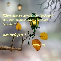 Day For Night, Good Night, Good Morning, Night Pictures, Greek Quotes, Be A Better Person, Positive Quotes, Wisdom, Slogan