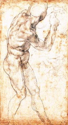 "1504 - Study to ""Battle of Cascina"" - Michelangelo"