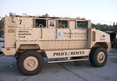 This Mine Resistant Ambush Protected (MRAP) armored  vehicle is used by Homeland Security's Special Response Team. - POLICE Magazine