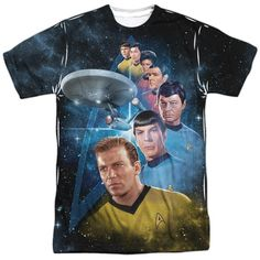 Submerge yourself in the world of Star Trek: Original Series with this Among The Stars Sublimated T-Shirt. Now you can live out your fantasy and wear this officially licensed, sublimated t-shirt made of 100% polyester. Show the world how much you love Star Trek: Original Series and get it today.  This garment is hand-printed on the front and back using a dye sublimation printing process. Each t-shirt is handmade and unique. Expect to have smudges and blurs over seems as well as areas of…