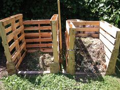 Bins made from shipping pallets: just one of five DIY projects for home composting