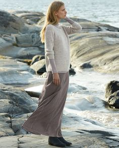 Image of Panelled jersey skirt