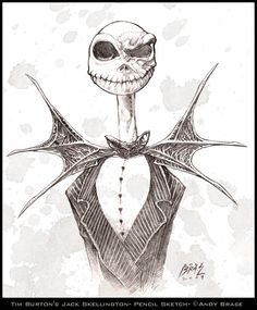 Jack Skellington sketch by *andybrase