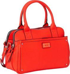 Nine West Handbags Double Vision Satchel Hot Orange - via eBags.com!