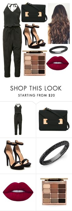 """All Black But Red Lips"" by lover-of-tea ❤ liked on Polyvore featuring ISABEL BENENATO, Sophie Hulme, Lime Crime and Stila"