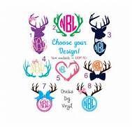 Deer Monogram Vinyl Decals - Choose your design! by ...