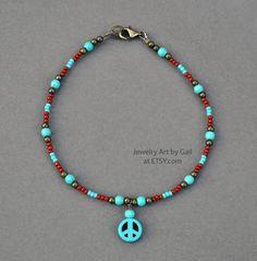Beaded Anklets, Beaded Necklace, Beaded Bracelets, Necklace Ideas, Bracelet Designs, Jewelry Art, Etsy Seller, Chain, Unique