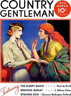 Country Gentleman, Fortune Teller (March 1934) by W.T. Benda