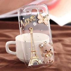New Eiffel Tower Bear and Butterfly Crystal Case for Samsung Galaxy S III from bagsq. Iphone 6, Best Iphone, Iphone Cases, 5s Cases, Samsung Galaxy S, Galaxy S3, Heart Jewelry, Unique Jewelry, Paris Crafts