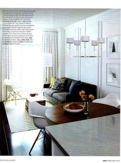 Small spaces don't look too small when there's good lighting -- highlight on the window
