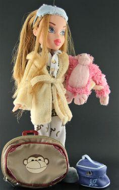 Dressed Bratz Dolls -- Slumber Party Meygan W/ Monkey, Luggage