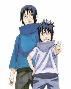 uchiha brothers   my school start for 2 days rip mee af i don't wanna go in high school   Artwork by Kishimoto ♡