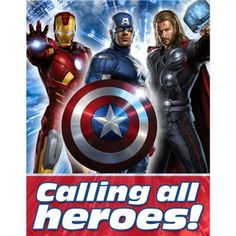 Avengers Party Supplies & Decoration Ideas. Avengers Party Invitations 8 per pack
