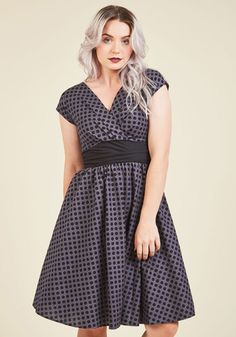 Pretty on the Park Bench A-Line Dress in Dots. While you find it unfortunate that every season can't be summer, it's easy to remain upbeat with the flare of both the sun and this dress gracing your gait through the park! #gold #prom #modcloth