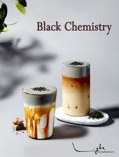 Bubble Drink, New Menu, Beverages, Drinks, Milk Tea, Black Sesame, Food Art, Coffee Shop, Latte
