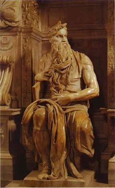 Michelangelo's Moses has a complicated and difficult history. Like the ceiling of the Sistine Chapel, Pope Julius II commissioned Michelangelo to design and construct his tomb in Michael Angelo, Italian Renaissance, Renaissance Art, Art Ninja, Carpeaux, Famous Sculptures, Italian Sculptors, Art Sculpture, Sculpture Ideas