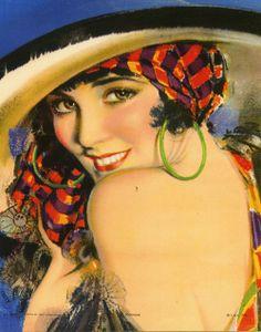 Rolf Armstrong, vintage, 1930s, Ramona,